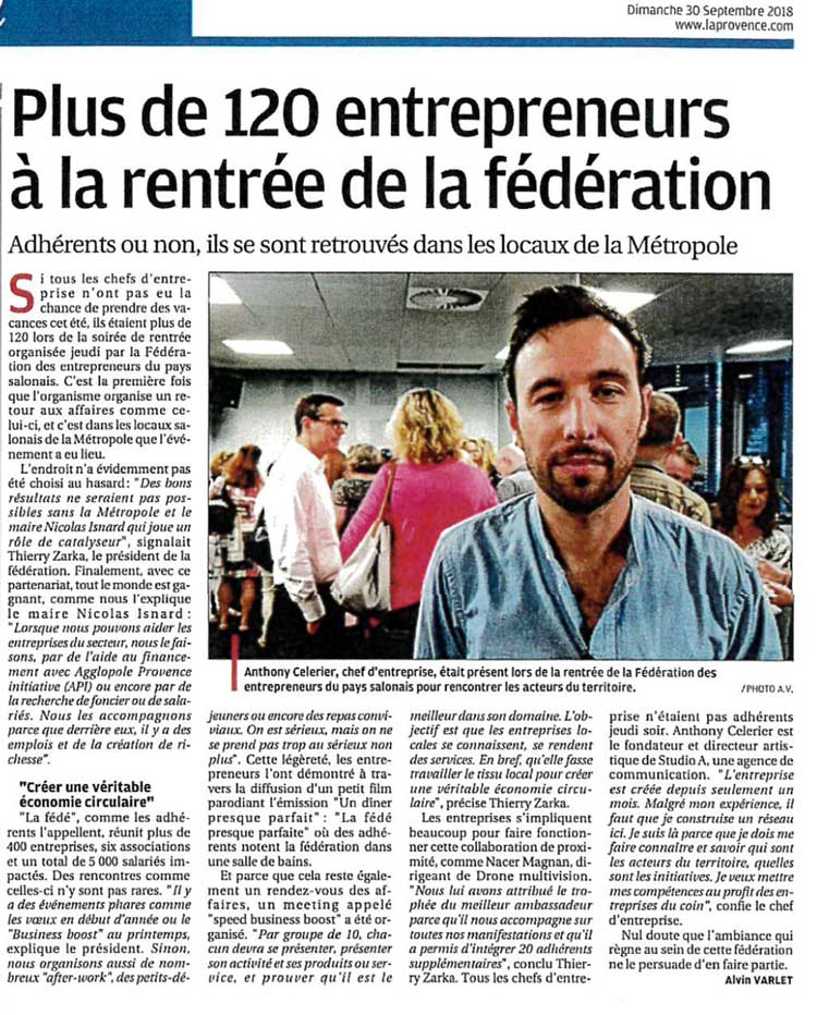 Article Soiree de Rentree La Provence