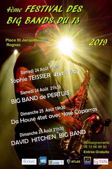 FESTIVAL DE BIG BAND DE JAZZ LES 24 et 25 AOÛT A ROGNAC 13340